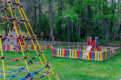 Playground in a park Royalty Free Stock Image