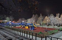 Playground park by night Royalty Free Stock Photos
