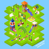 Playground Park Poster Royalty Free Stock Images