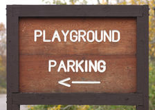 Playground Parking Sign Stock Image