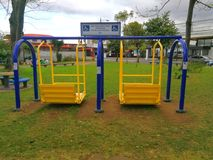 Playground for people using wheelchair Stock Image