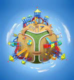 Playground planet vector illustration