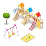 Playground. Playground slide theme elements.  Stock Image