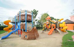Playground in public park. Activity Playground in public park Stock Images