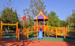 Playground in public park. Colorful playground for children. Stock Photography