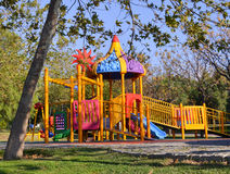 Playground in public park. Colorful playground for children. Stock Image
