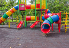 Playground. At public park with nature Stock Photo