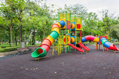 Playground. At public park with nature Stock Photography