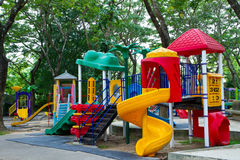 Playground in puplic park Stock Photography