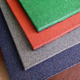 Playground recicle rubber tiles Royalty Free Stock Image