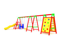 Playground red yellow blue green 3d render on white background Royalty Free Stock Image