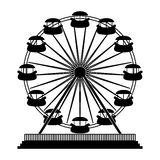 Playground related icon image. Ferris wheel playground related icon image  illustration design Stock Photography