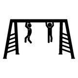 Playground related icon image. Monkeybars playground related icon image  illustration design Royalty Free Stock Image