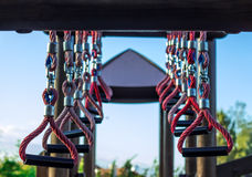 Playground rings. In outdoor park - concept challange Royalty Free Stock Photo