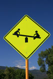 Playground road sign Stock Images