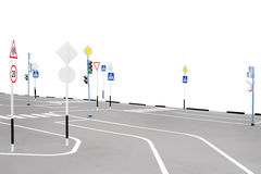 Playground with road signs Stock Images