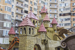 Playground in roza khutor Royalty Free Stock Photos