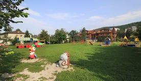 Playground at the Sanatorium Belokuriha Stock Photo