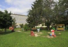 Playground at the Sanatorium Belokuriha Stock Photos