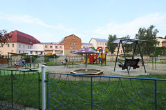 Playground at the Sanatorium Centrosouz Royalty Free Stock Image