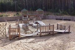 Playground with sand Stock Photo