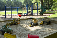 Playground and Sandbox Royalty Free Stock Images