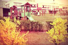Playground in the school Royalty Free Stock Photos