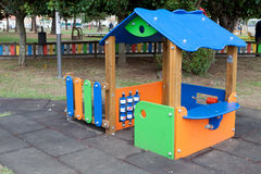 Playground in a schoolyard without children Royalty Free Stock Photography