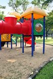 Playground Set. A playset in a sandbox in a park Royalty Free Stock Photo
