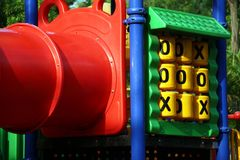 Playground Set. A playset in a sandbox in a park Stock Photography