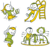 Playground Set royalty free illustration