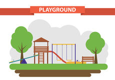 Playground. set of elements for the construction Stock Image