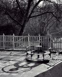 Playground. Shadows in playground Stock Image