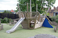 Playground ship slide Royalty Free Stock Image