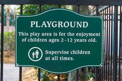 Playground Sign Royalty Free Stock Photos