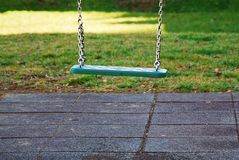 Playground with a single seesaw. For kids Stock Images