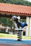 Playground Sittng Duck. A photo taken on an adorable sitting duck at a playground Stock Photo