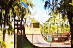Playground for skate solar panel in maui Royalty Free Stock Photography
