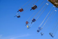 Playground sky flying trapeze chair Stock Images