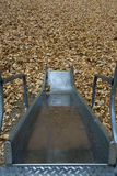 Playground Slide Autumn Leaves Royalty Free Stock Photography