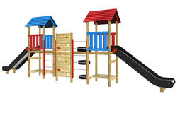Playground slide and equipment Stock Images