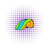 Playground slide icon, comics style Royalty Free Stock Photos