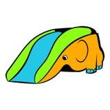 Playground slide icon, icon cartoon Stock Image