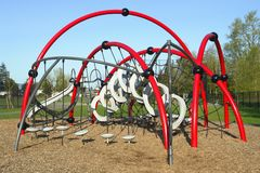 Playground Slide Outdoor Gym Stock Images