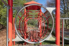 Playground with with slide in park Lelystad, The Netherlands Royalty Free Stock Image
