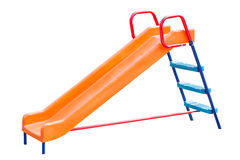 Playground slide of plastic Stock Photography