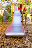 Playground slides in the park Stock Image