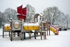 Playground In The Snow Stock Photography