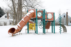 Playground in the Snow in Canton, Ohio. Stock Images