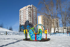 Playground snowy winters Royalty Free Stock Photography